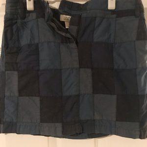 LOFT Blue Patchwork Skirt